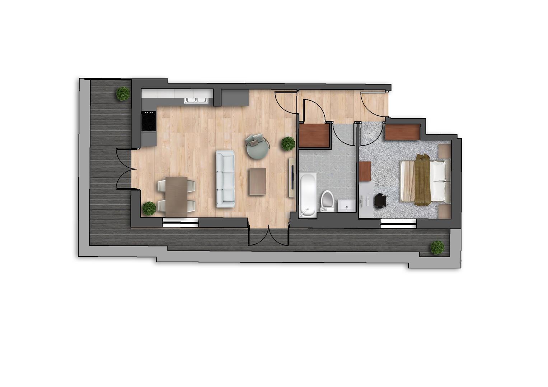Floorplan for Phoenix House, Merton Road, Wimbledon